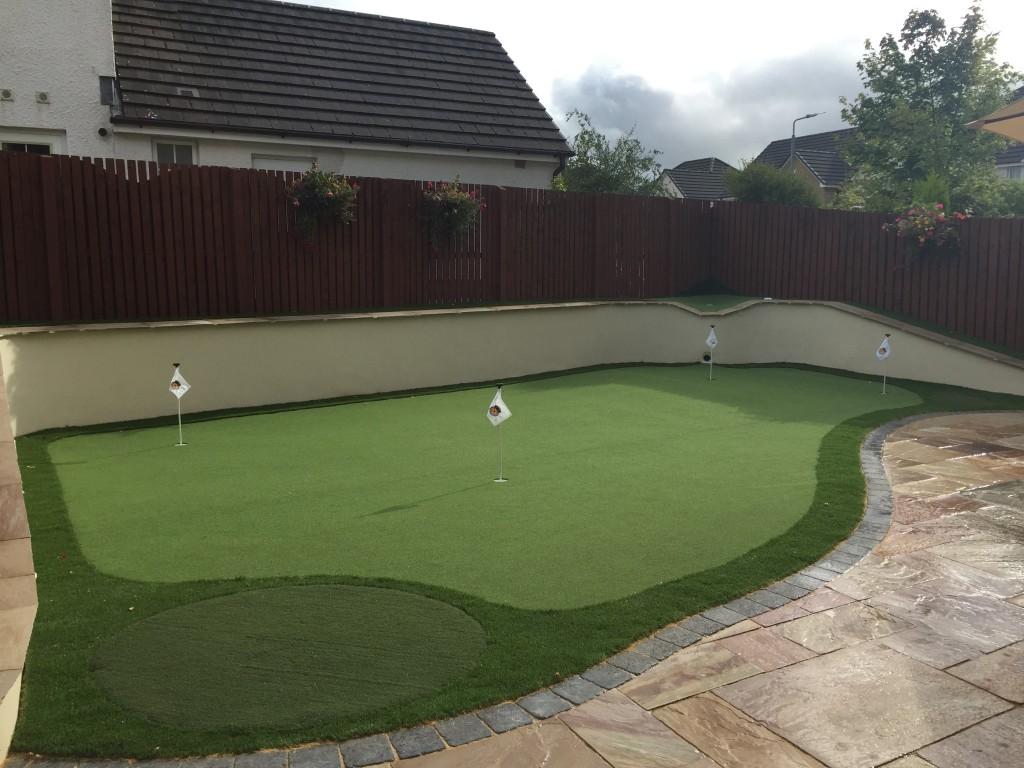 Back Garden Artificial Putting Green Scotland Using Our 15mm Fake