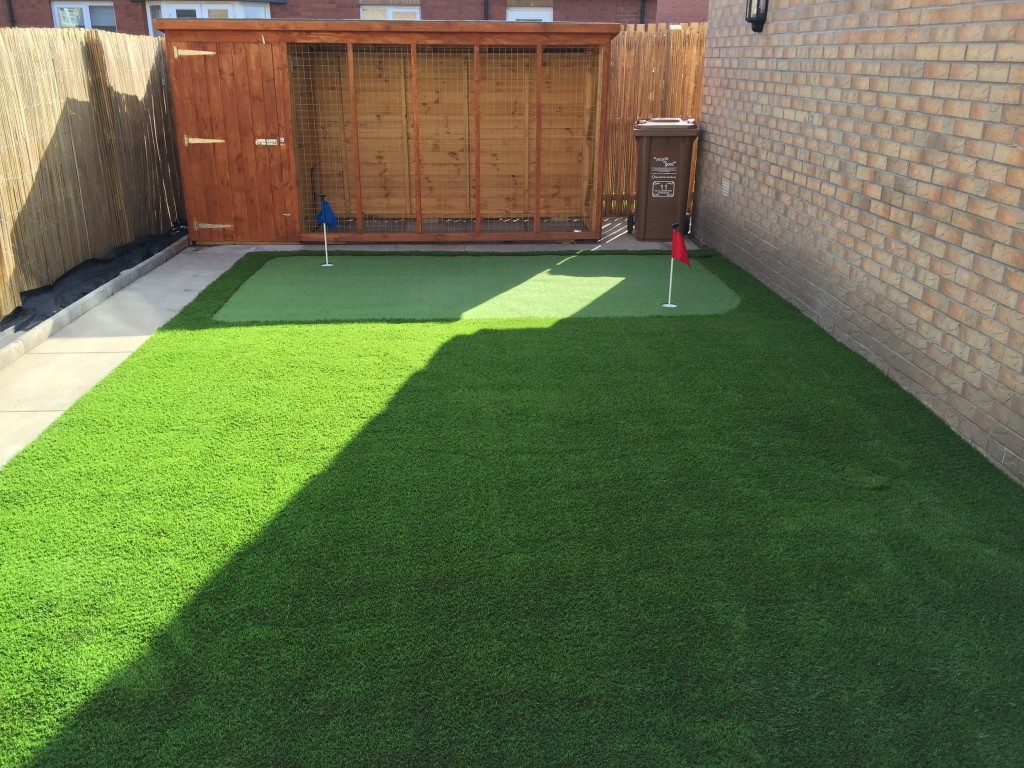 Bellshill Back Garden With Our Fake Grass Scotland 35mm Artificial