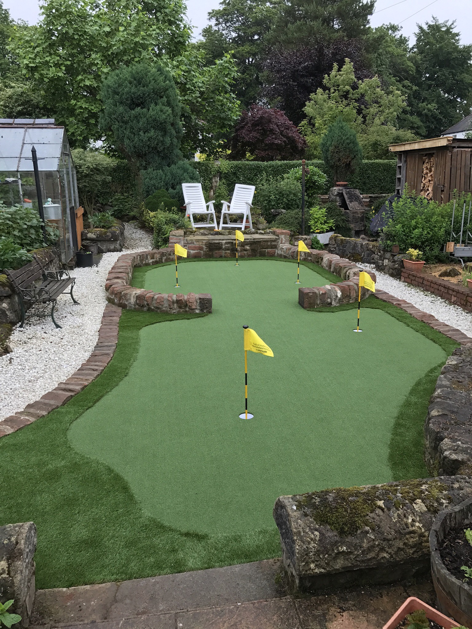 Back Garden Artificial Grass With Putting Golf Thistle All Weather